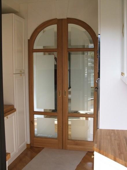 ingresso cucina: porte scorrevoli