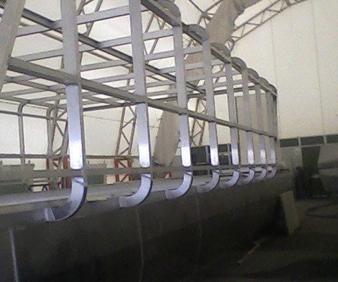 struttura in alluminio houseboat