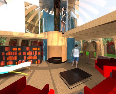 view-zona scale soggiorno