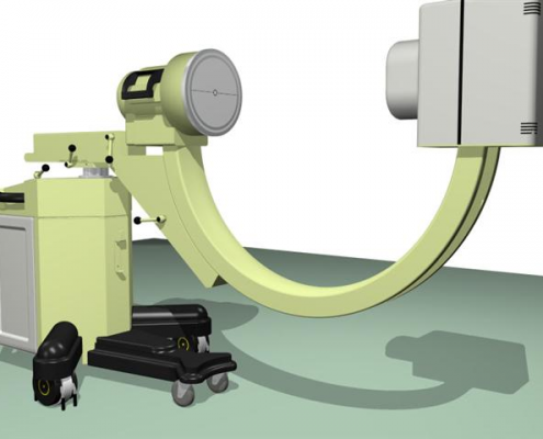 rendering d'insieme macchina elettromedicale arco