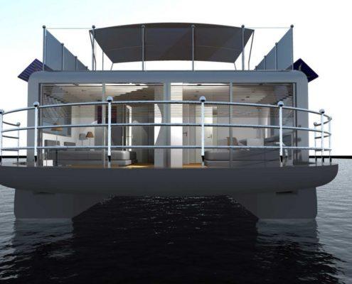 houseboat-esterno retro-poppa