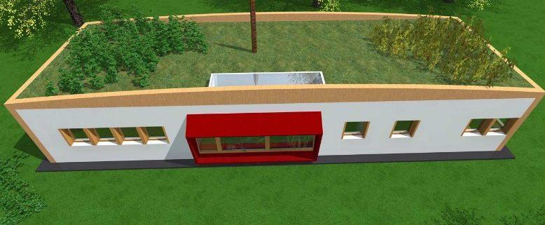 passivhouse-view-alto con tetto a prato