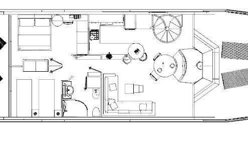 ponte houseboat