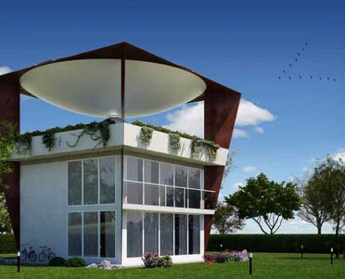 giardino-con-sfera-bianca