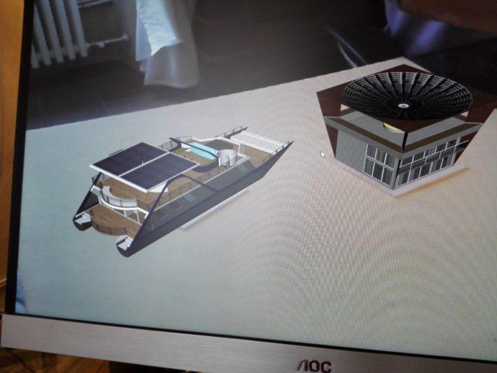 houseboat+house heliostat