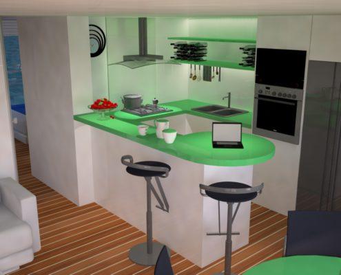 houseboat_ Cucina zona cottura