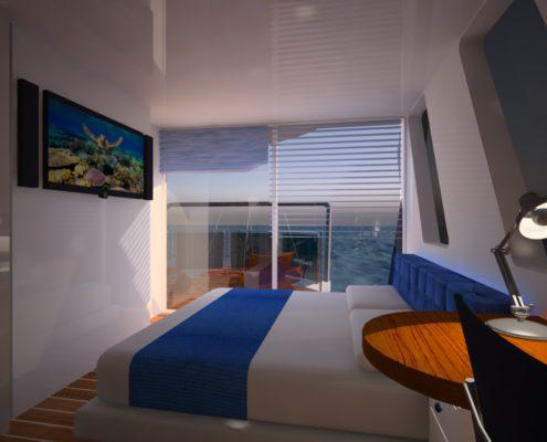 houseboat_vista camera matrimoniale