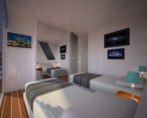 houseboat_vista camera 2 letti