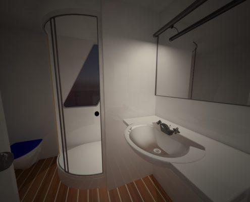 houseboat vista bagno