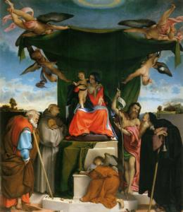Pala Lorenzo Lotto-chiesa di san Bernardino